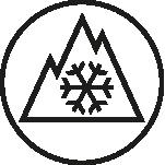 Three-peak mountain snowflake