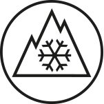 Three-peak mountain snowflake